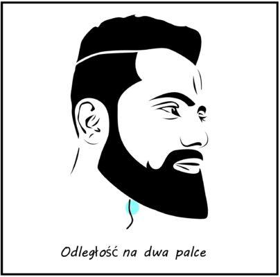 Jak przycinać brodę - Odległosć na dwa palce