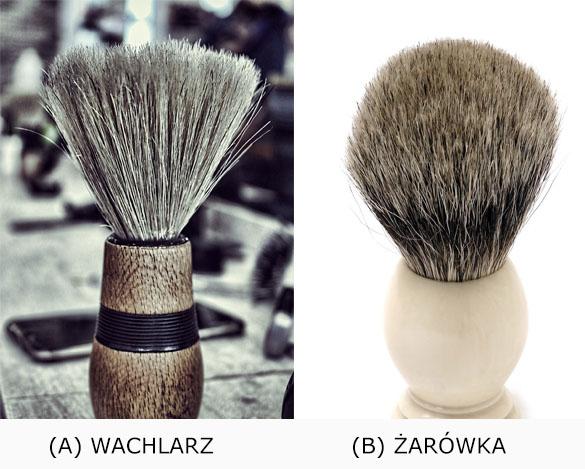 Kształt włosia pędzli do golenia